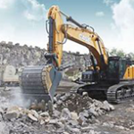 Heavy construction equipment is used for human