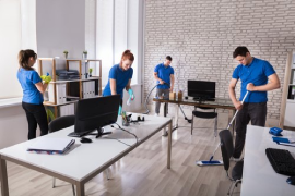 Office cleaning slough
